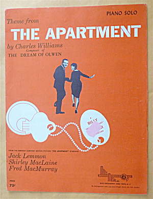 Sheet Music For 1949 The Apartment
