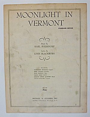 Sheet Music For 1945 Moonlight In Vermont