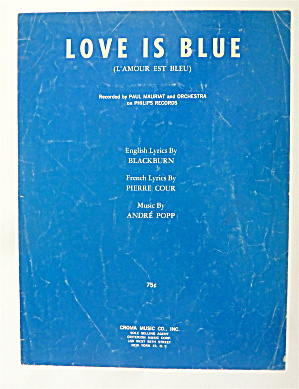 Sheet Music For 1968 Love Is Blue