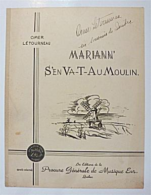 Sheet Music For Undated Mariann S'en Va-T-Au Moulin (Image1)