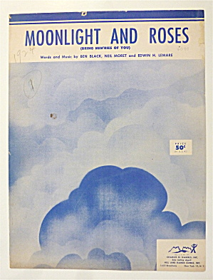 Sheet Music For 1953 Moonlight And Roses