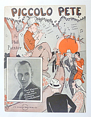 Sheet Music For 1929 Piccolo Pete