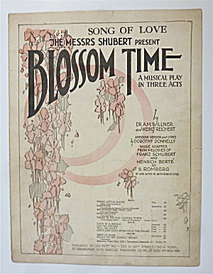 Sheet Music For 1921 Song Of Love
