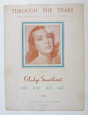 Sheet Music For 1931 Through The Years