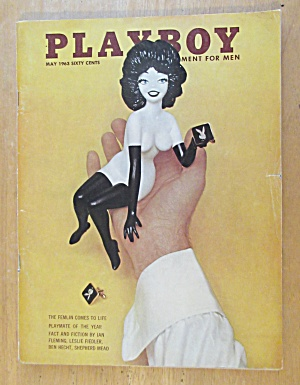 Playboy Magazine-may 1963-sharon Cintron