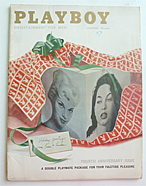 Playboy Magazine-december 1957-lisa/linda Vargas