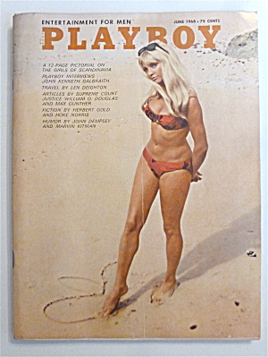 Playboy Magazine-june 1968-britt Fredriksen