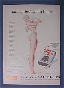 Vintage Ad -1940 Old Gold Cigarette By Petty (Image1)