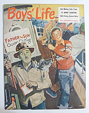Boys' Life Magazine April 1955 Bob Mathias Talks Track