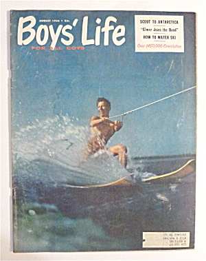 Boys' Life Magazine August 1956 How To Water Ski