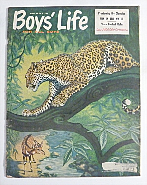 Boys' Life Magazine June 1956 Previewing The Olympics