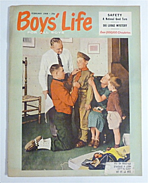 Boys' Life Magazine February 1958 Norman Rockwell Cover