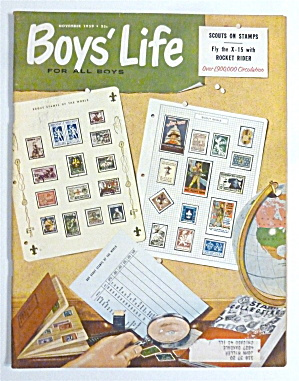 Boys' Life Magazine November 1959 Scouts On Stamps
