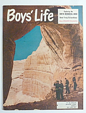 Boys' Life Magazine September 1958 Smith Memorial Arch