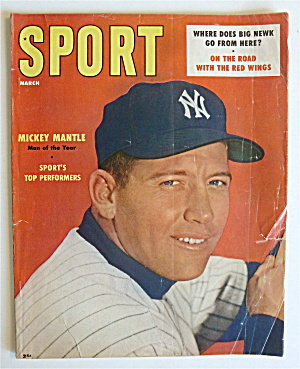 Sport Magazine March 1957 Mickey Mantle