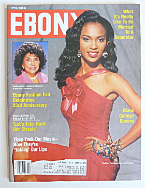Ebony Magazine April 1991 Annette Thomas