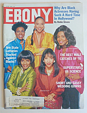 Ebony Magazine June 1991 Black Actresses