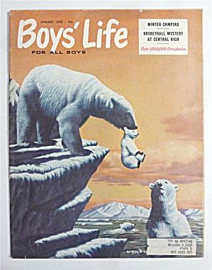 Boys Life Magazine January 1958 Winter Camping