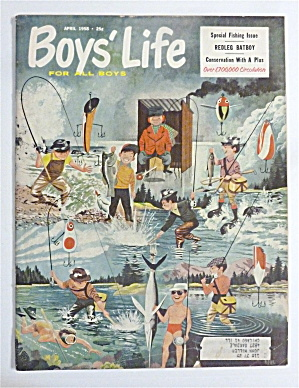 Boys Life Magazine-april 1958-redleg Batboy