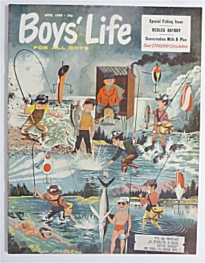 Boys Life Magazine April 1958 Redleg Bayboy