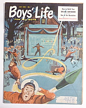 Boys Life Magazine July 1958 Sailing Surfboard