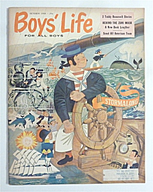 Boys Life Magazine-october 1958-behind The Zuni Mask