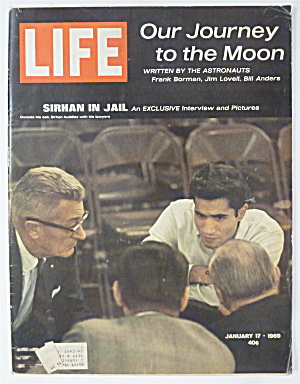 Life Magazine-january 17, 1969-sirhan In Jail