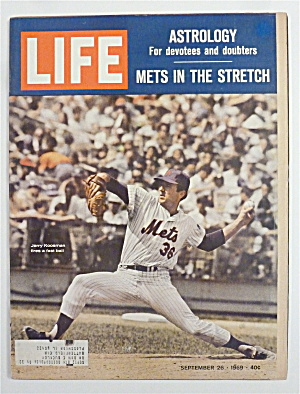 Life Magazine-september 26, 1969-mets In The Stretch