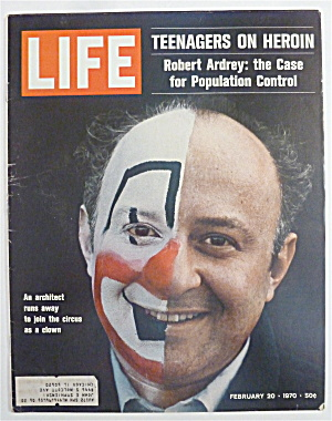 Life Magazine-february 20, 1970-college For Clowns