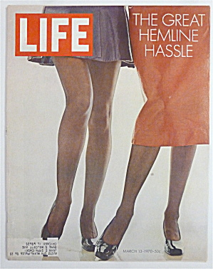 Life Magazine-march 13, 1970-great Hemline Hassle