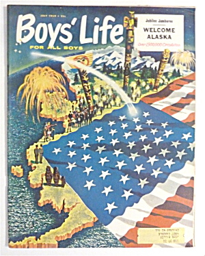 Boys Life Magazine July 1959 Welcome Alaska