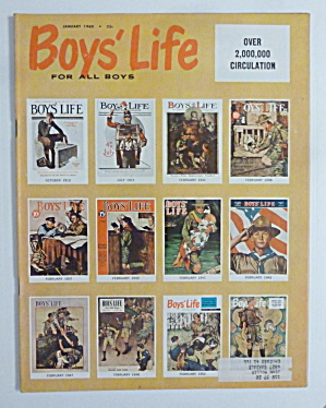 Boys Life Magazine January 1960 Rockwell Covers
