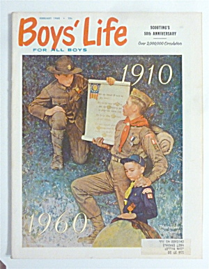 Boys Life Magazine February 1960 Rockwell Cover
