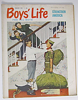 Boys Life Magazine February 1961 Rockwell Cover