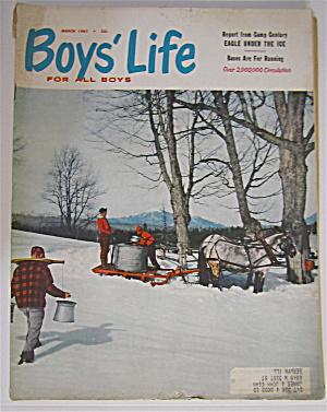 Boys Life Magazine March 1961 Eagle Under The Ice