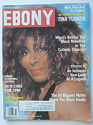 Ebony Magazine November 1989 Tina Turner