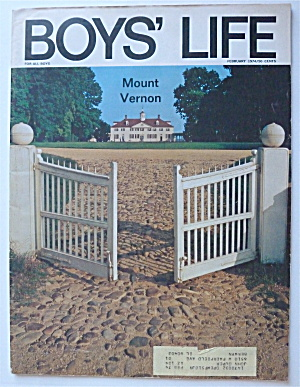 Boys Life Magazine February 1974 Mount Vernon