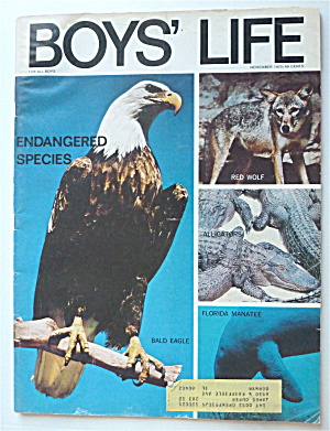 Boys Life Magazine November 1970 Endangered Species