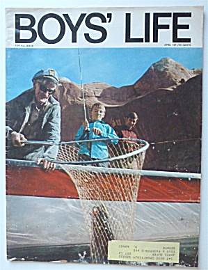 Boys Life Magazine April 1971 Bass Fishing With A View