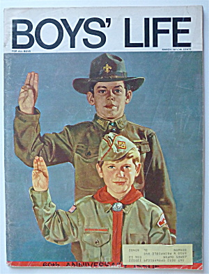 Boys Life Magazine March 1971 60th Anniversary Issue