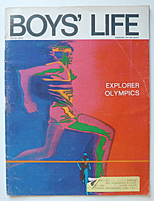 Boys Life Magazine February 1971 Explorer Olympics