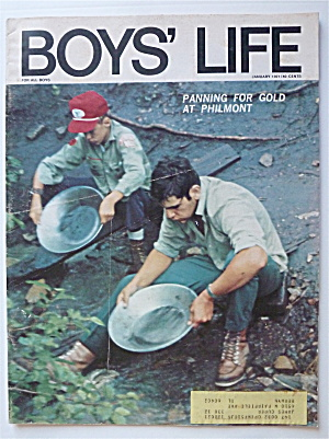 Boys Life Magazine January 1971 Panning For Gold