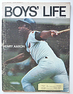 Boys Life Magazine March 1972 Henry Aaron