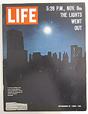 Life Magazine November 19, 1965 The Lights Went Out