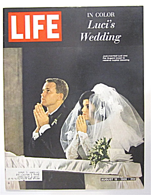 Life Magazine August 19, 1966 Luci's Wedding (In Color)
