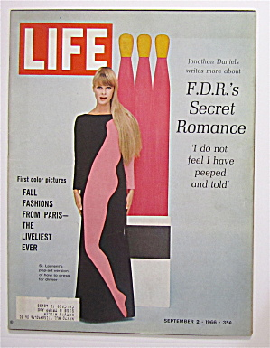 Life Magazine September 2, 1966 Fall Fashion From Paris