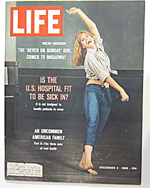 Life Magazine-december 2, 1966-melina Mercouri