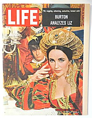 Life Magazine February 24, 1967 Burton Analyzes Liz  (Image1)