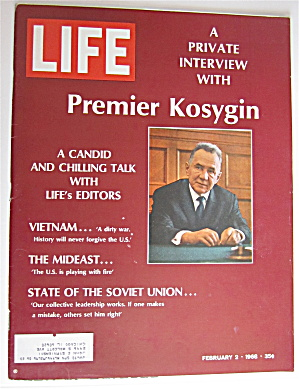 Life Magazine-february 2, 1968-premier Kosygin