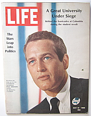 Life Magazine May 10, 1968 Paul Newman For Mccarthy